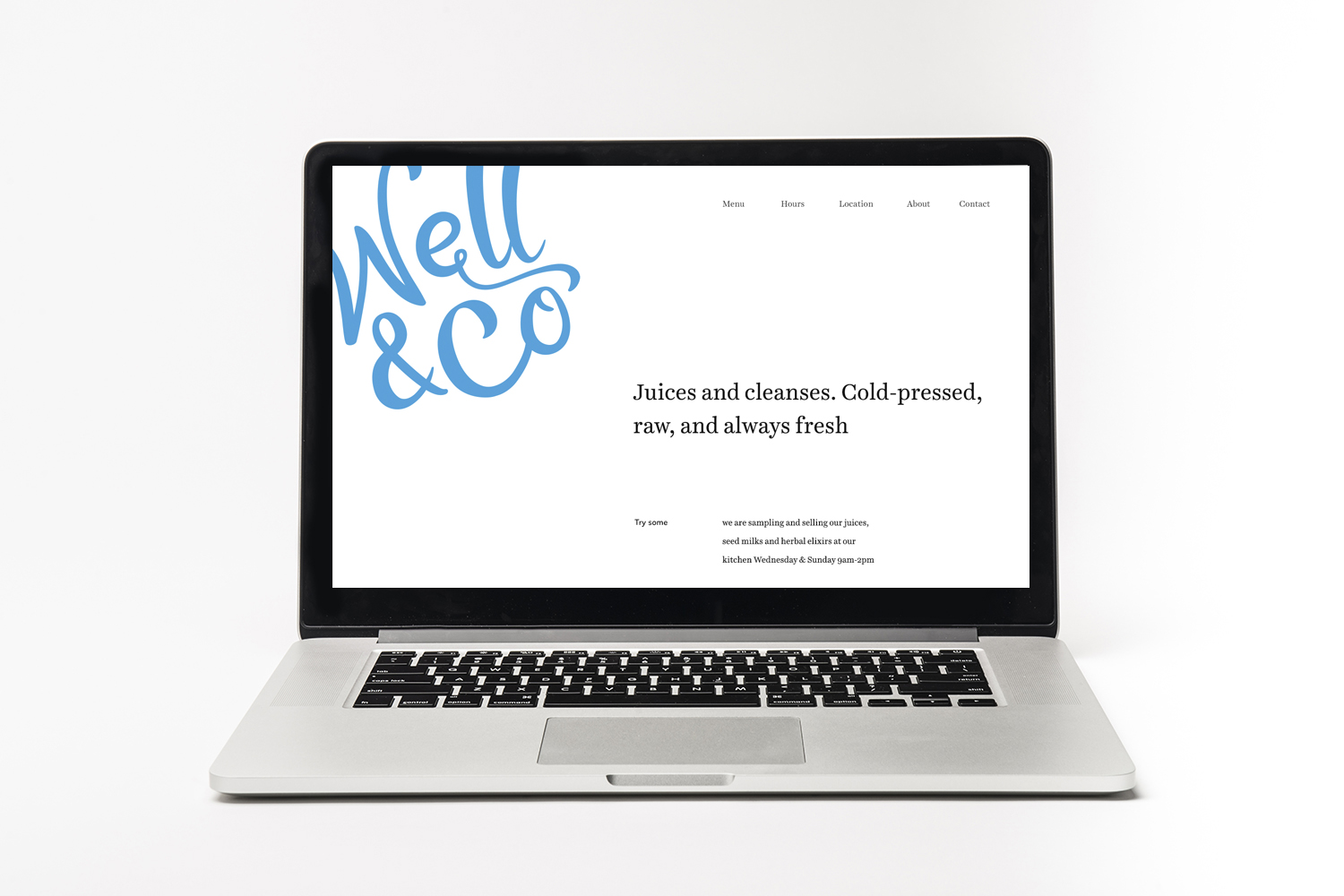 Well Co website mockup